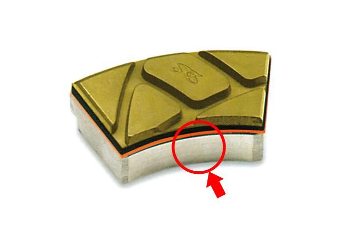 Supporti in alluminio per virgole resinoidi